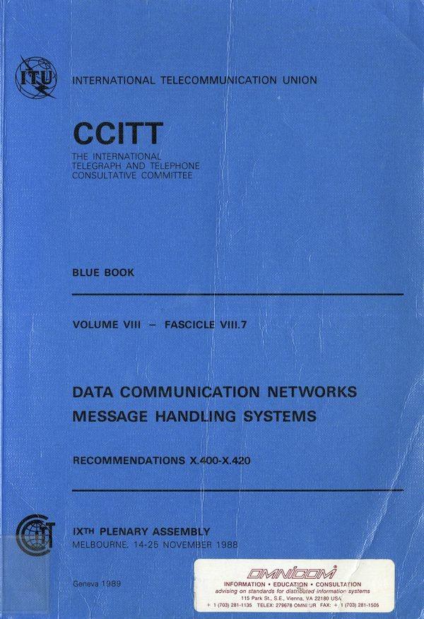 设计 OSI 模型的 CCITT 的出版物